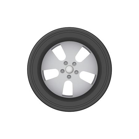 Wheel Icon Isolated on White Background Image