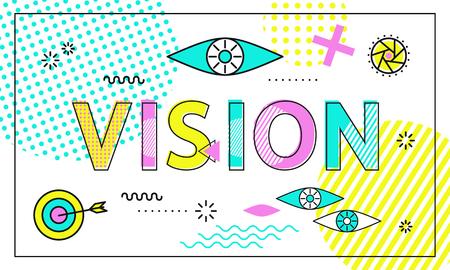 Vision Conceptual Poster, Vector Illustration