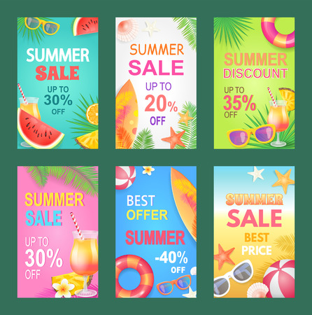 Best Offer Summer Proposition Vector Illustration