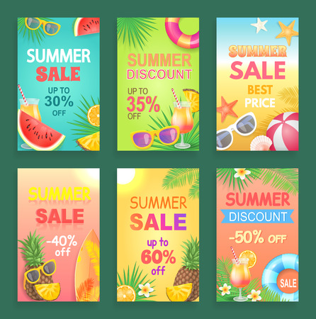 Summer Discount and Offer Vector Illustration Illustration