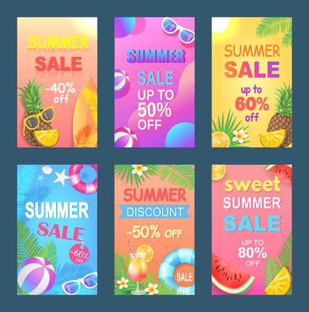 Best Summer Offer Discount Vector Illustration