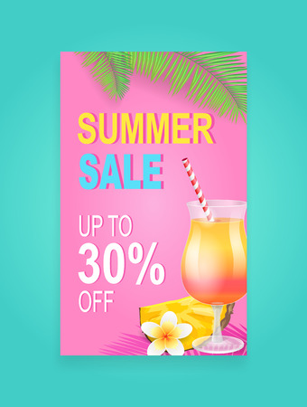 Summer Sale Vector Banner Promotion Leaflet Sample Reklamní fotografie