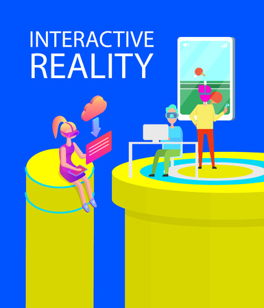 Interactive Reality Games Vector Illustration