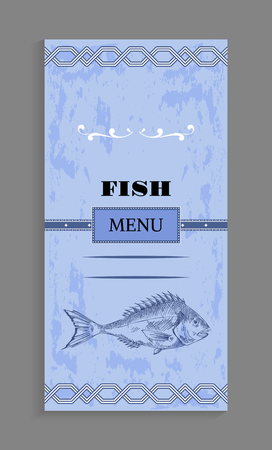 Ornate Fish Menu Concept for Seafood Restaurant
