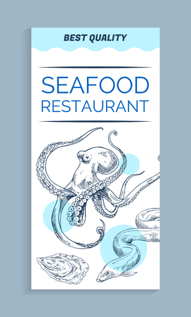 Vector Best Quality Seafood Restaurant Banner
