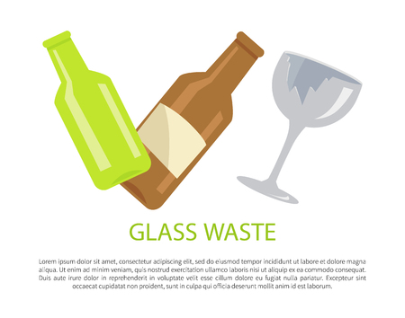Glass Water Poster Text Sample Vector Illustration