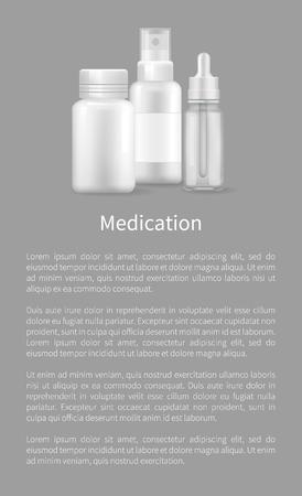 Medication Poster Realistic Bottles Ear Eye Drops