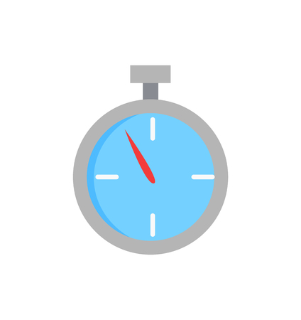 Sport Stopwatch, Isolated Cartoon Vector Icon Illustration