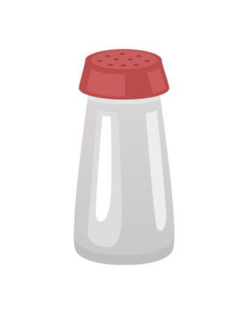 Saltshaker Salt in Container Vector Illustration