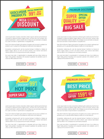Big Sale Mega Discount and Hot Price Page Sample Stock Photo - 112716656