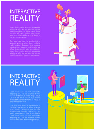 Interactive Reality Games Set Vector Illustration