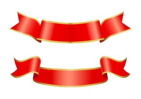 Ribbon Icons of Banners Set Vector Illustration Stock Photo