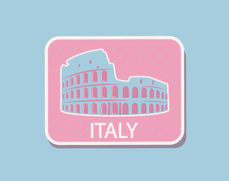 Italy Architecture Sightseeing Sticker Rome Vector