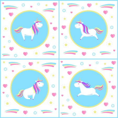 Unicorns Design of Mythological Creature Vector Standard-Bild - 112716857