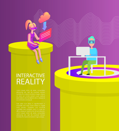 Interactive Reality People Vector Illustration