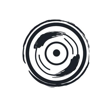 Disk or Vinil Recorder Rock Symbol Illustration