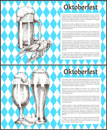 Tulip Beer Glass and Mug with Snack Poster Illustration