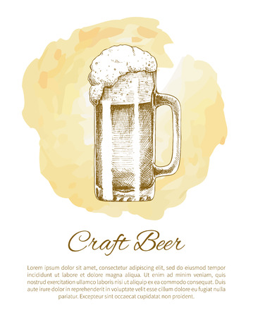 Craft Beer Object Hand Drawn Icon Vector Sketch