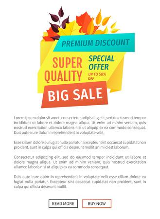 Super Quality Big Sale Poster Vector Illustration Illustration