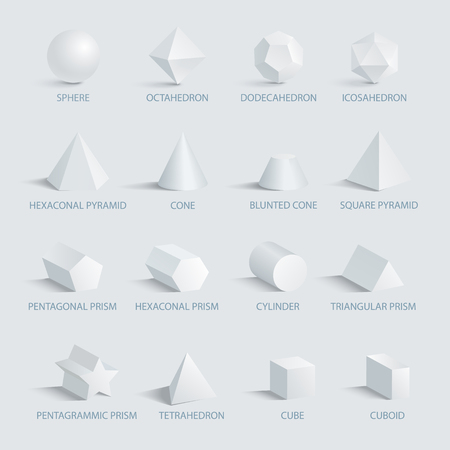 Sphere and Geometric Shapes on Vector Illustration Illustration