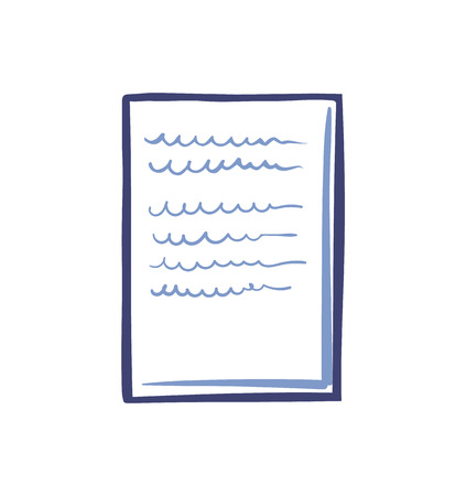Office Paper Icon Isolated Vector. Document List Ilustração