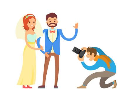 Wedding Photo Session of Newlyweds by Photographer