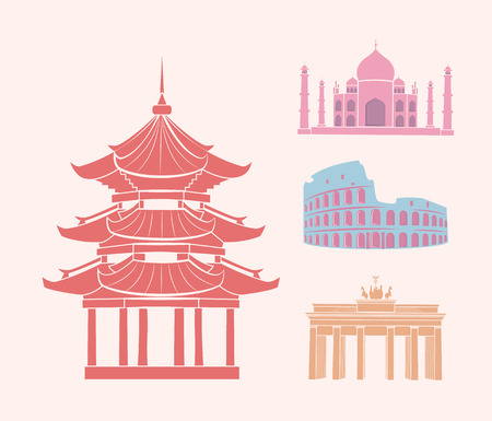 China and Italy Germany and India Icons Set Vector 版權商用圖片 - 112857386