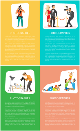 Photographer Profession and Genres Promo Banners