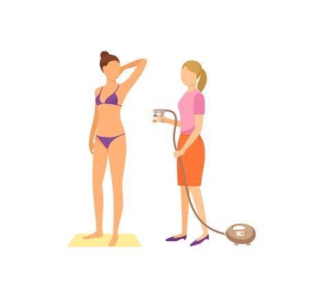 Spa Procedures in Salon Cartoon Vector Banner Illustration