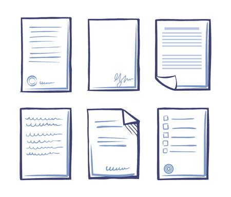 Contrat signé avec texte et vecteur de signature