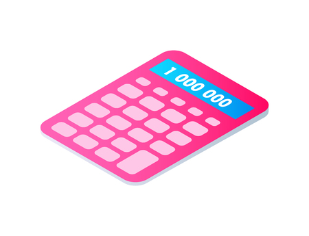Calculator Cartoon Isolated Single Vector Icon