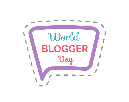 World Blogger Day Isolated Sticker Patch Vector