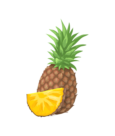 Pineapple Tropical Fruit Icon Vector Illustration
