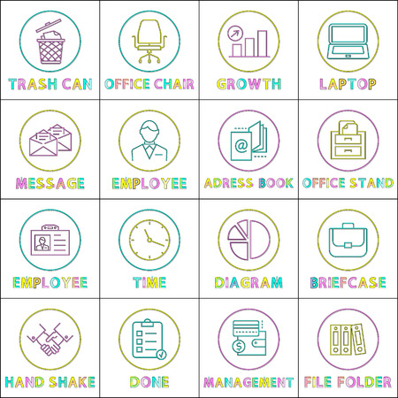 Modern Application Linear Bright Icons Templates