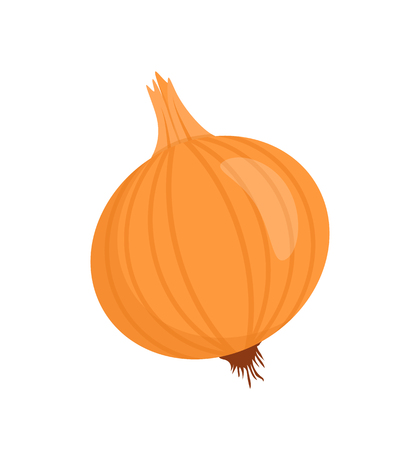 Onion Isolated Vegetable Cartoon Vector Badge