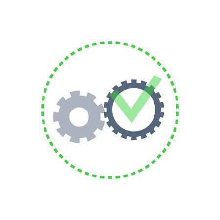 Team and Teamwork Cooperation Gears Set Vector Иллюстрация