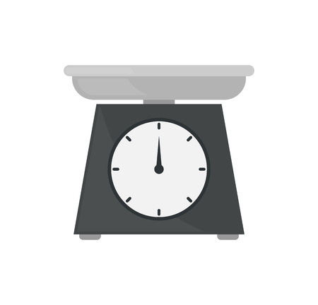 Scales with Pointer Numbers Vector Illustration