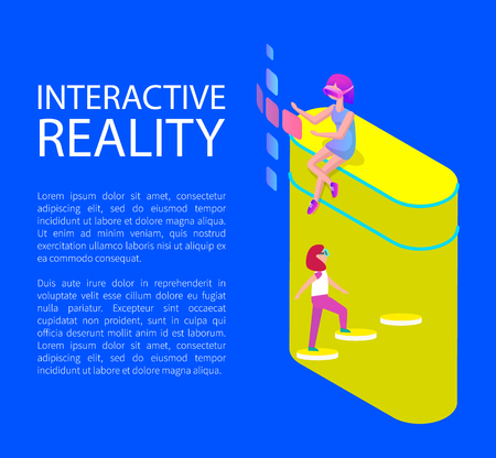 Interactive Virtual Reality Cartoon Style Banner Banque d'images - 113273461