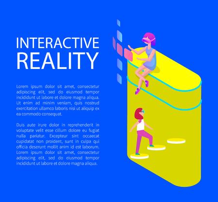 Interactive Virtual Reality Cartoon Style Banner