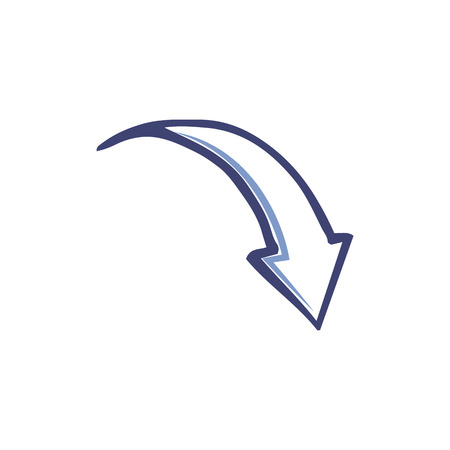 Arrow Designed Pointer Back Down Isolated Vector