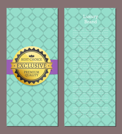 Luxury Brand Exclusive Set Vector Illustration Stock Photo