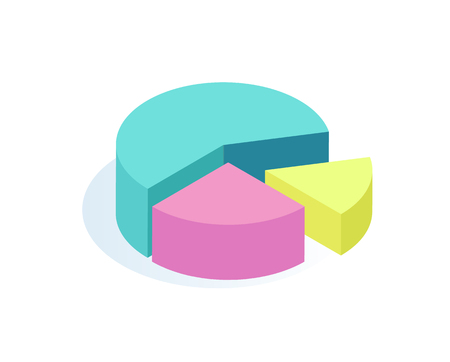 Pie Rounded Diagrams Icon Vector Illustration