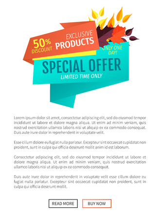 Special Offer Product Sale Vector Illustration