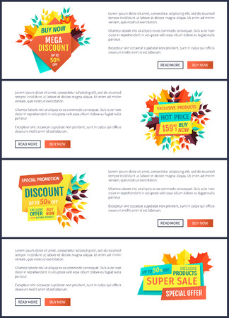 Mega Discount Natural Product Vector Illustration Stock fotó