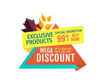 Exclusive Offer Mega Discount Vector Illustration