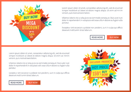 Mega Discount Buy Now Poster Vector Illustration