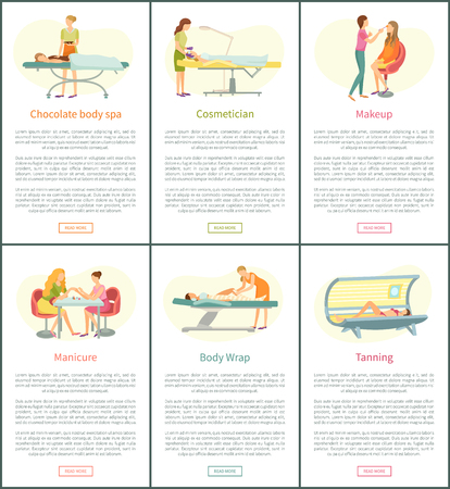 Chocolate Body Spa and Tanning Posters Vector