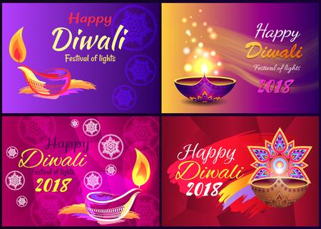 Happy Diwali Festival of Light Vector Illustration Illustration