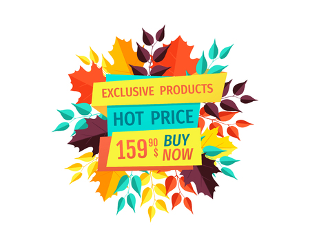 Hot Price on Exclusive Products Autumn Sale Logo