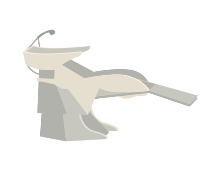 Basin for washing hair, hairdressers procedure vector. Sink for clients to sit and lean head for stylist to make new haircut. Hairdo making equipment  イラスト・ベクター素材